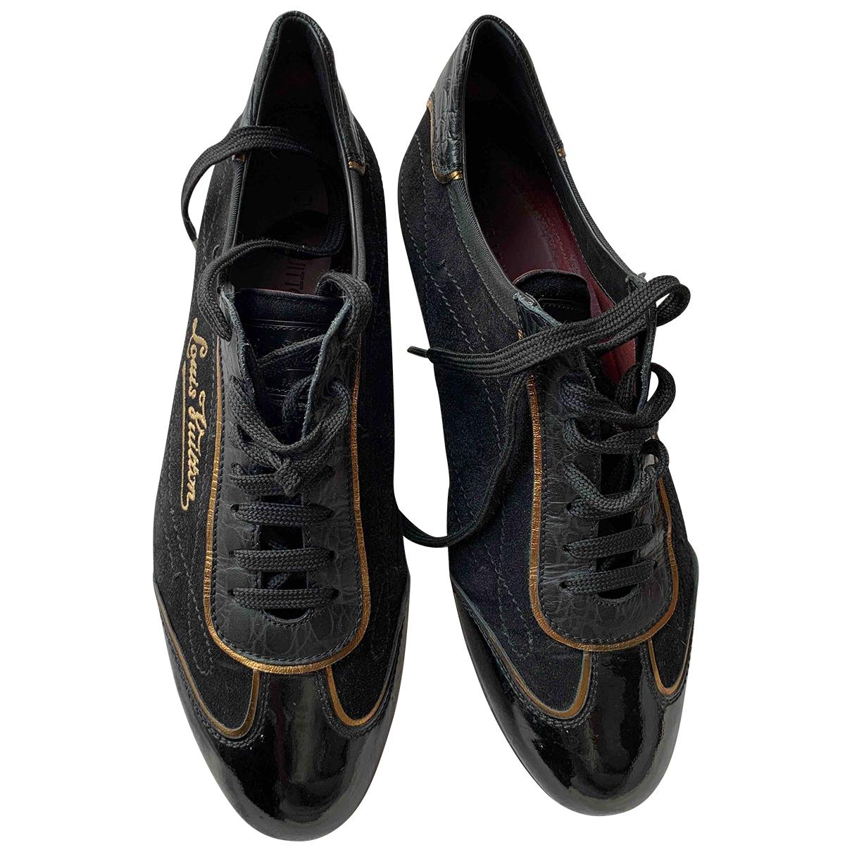 Louis Vuitton - Baskets   pour homme en suede - noir