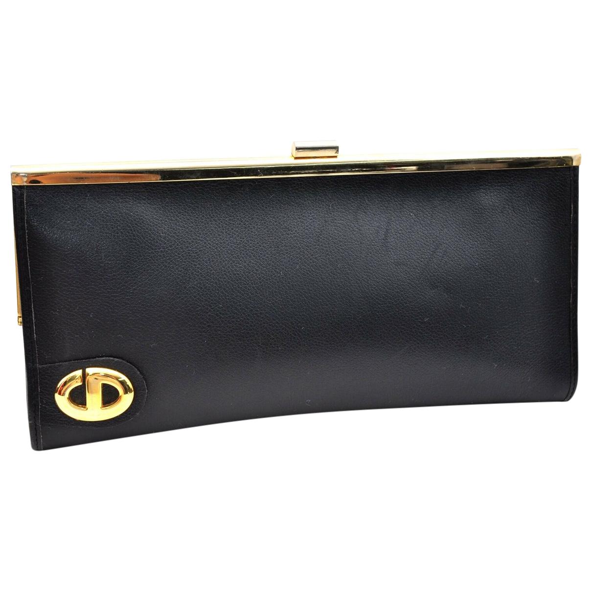 Dior \N Clutch in  Schwarz Leder