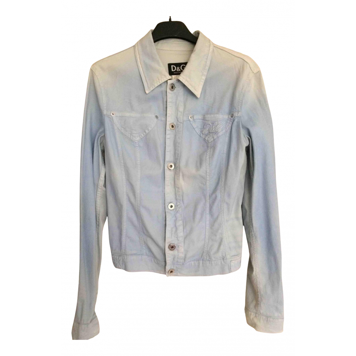 D&g N Turquoise Cotton jacket for Women 44 IT