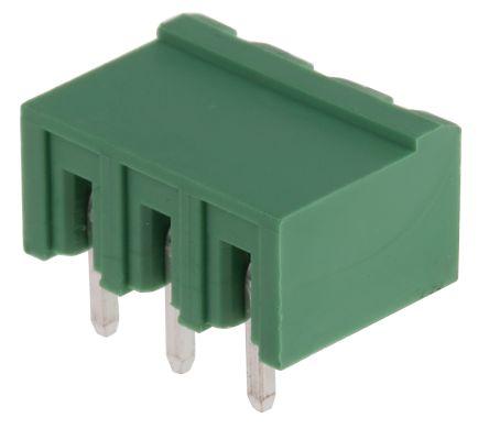 RS PRO , 3 Way, 1 Row, Right Angle PCB Terminal Block Header (10)