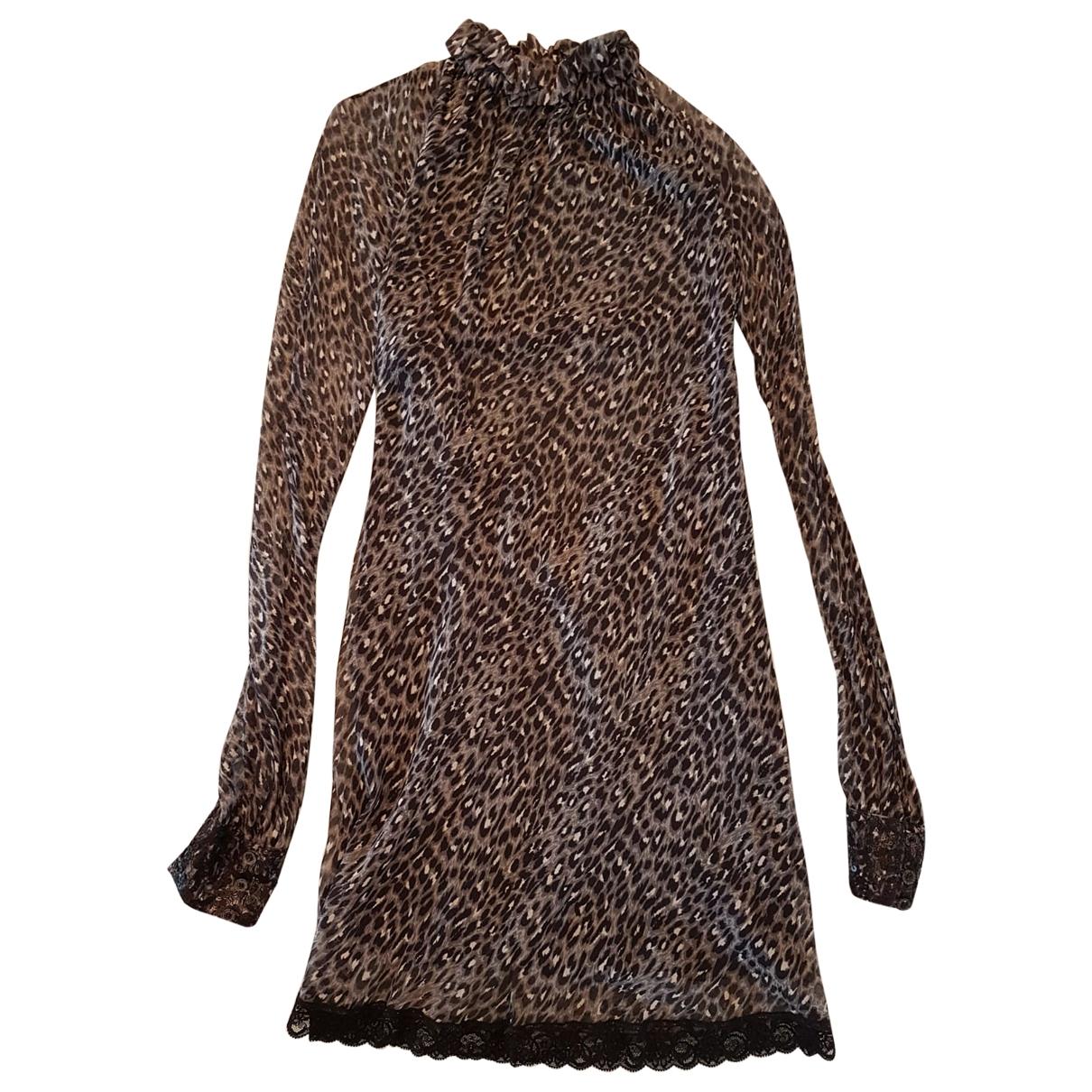 Patrizia Pepe - Robe   pour femme en soie - gris