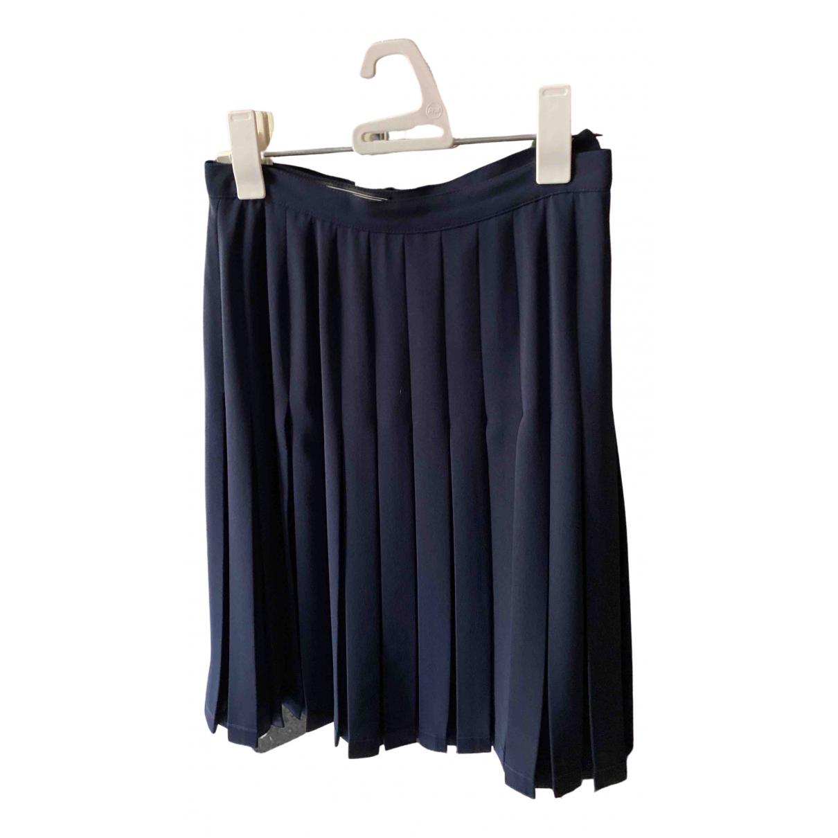 Max Mara N Blue Cotton skirt for Women 12 UK