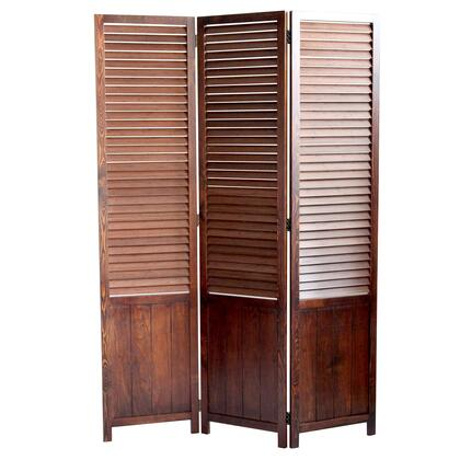 BM205415 Traditional Foldable Wooden Shutter Screen with 3 Panels