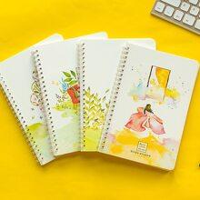1pack Girl Print Cover Random Notebook