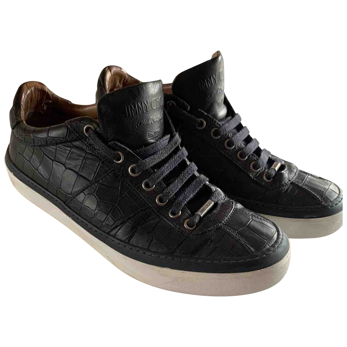 Jimmy Choo \N Black Leather Trainers for Men 40.5 EU