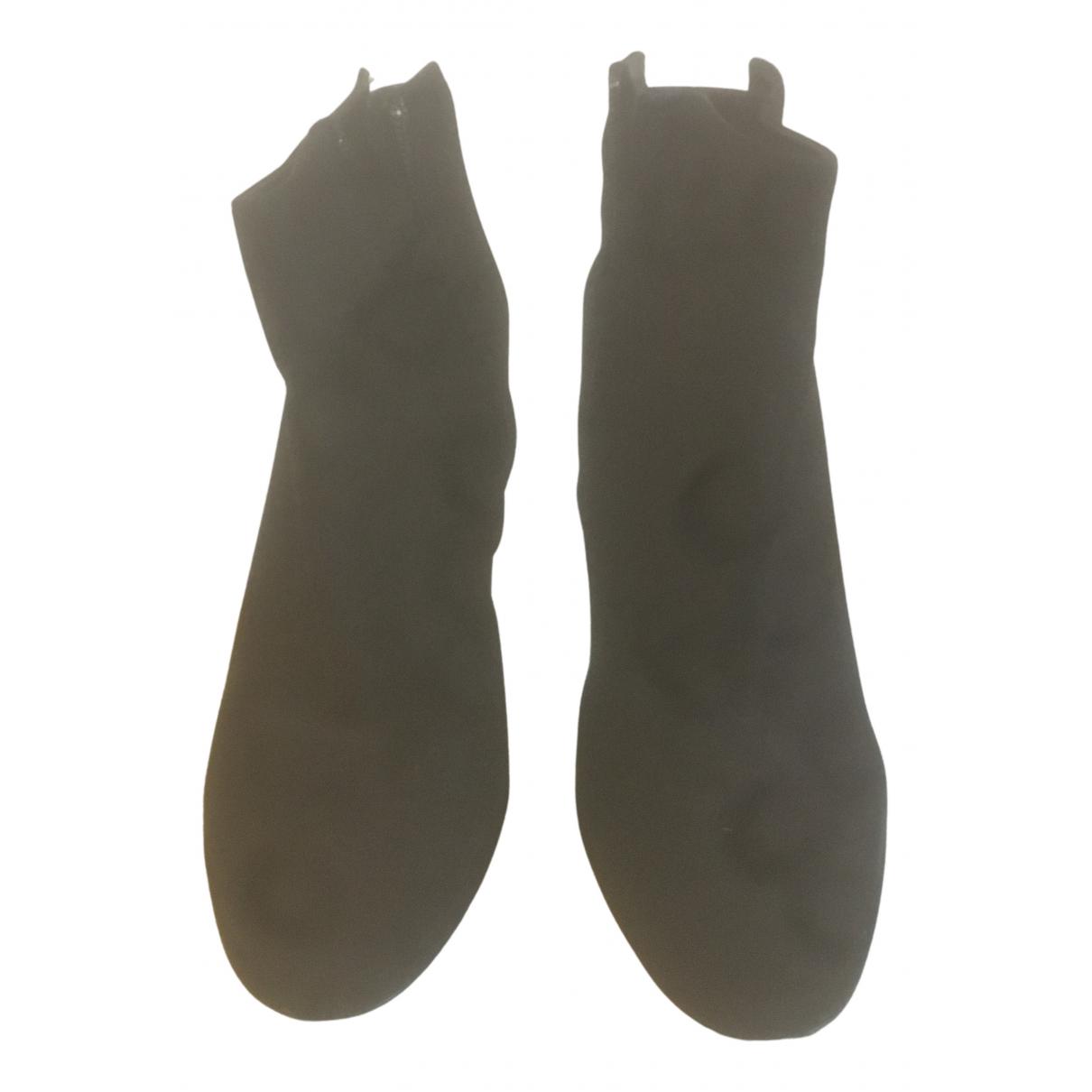 Pierre Hardy N Black Suede Boots for Women 37.5 EU