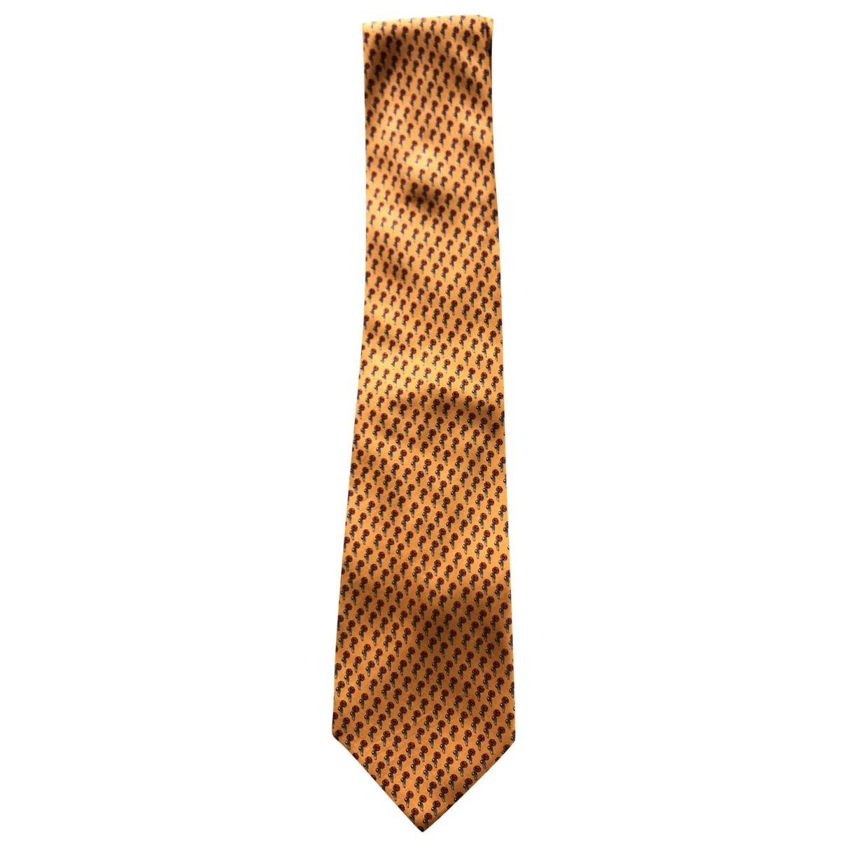 Yves Saint Laurent \N Yellow Silk Ties for Men \N