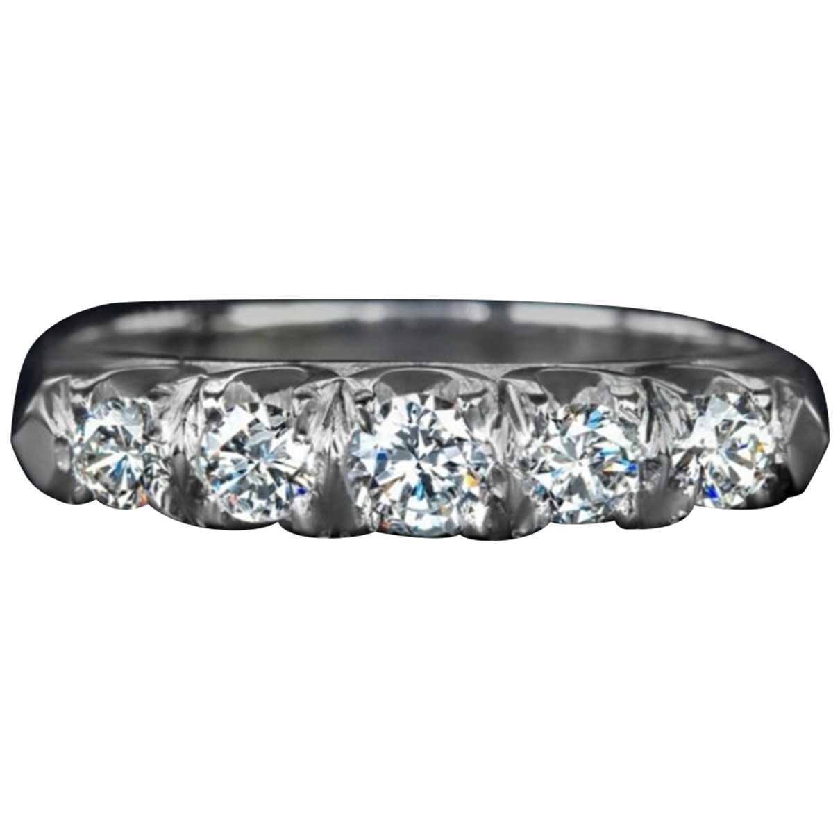 Non Signe / Unsigned Alliance Ring in  Weiss Weissgold