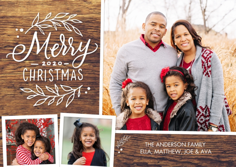 Christmas Photo Cards 5x7 Cards, Premium Cardstock 120lb with Scalloped Corners, Card & Stationery -Christmas 2020 Foliage by Tumbalina