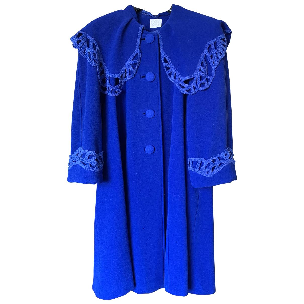 Maria Grazia Severi - Manteau   pour femme en laine - bleu