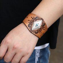 Maenner Armband mit geometrischem Dekor