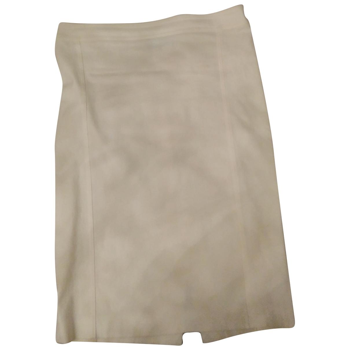 Patrizia Pepe \N White Cotton - elasthane skirt for Women 44 IT