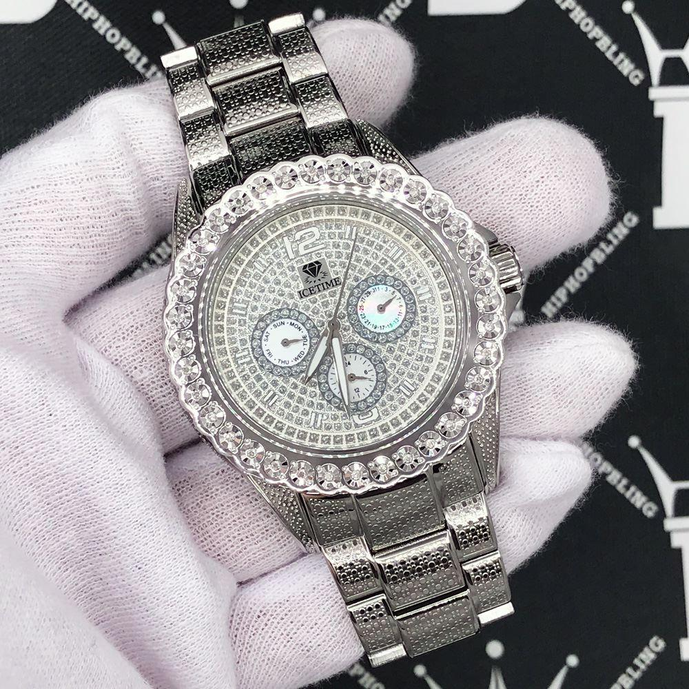 Heavy Bling 1 Row .25cttw Diamond Watch IceTime