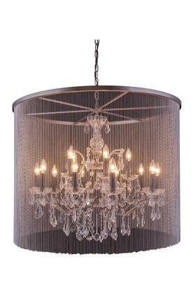 1131D36MB/RC 1131 Brooklyn Collection Pendent Lamp D: 36 H: 30.5 Lt: 15 Mocha Brown Finish (Royal Cut