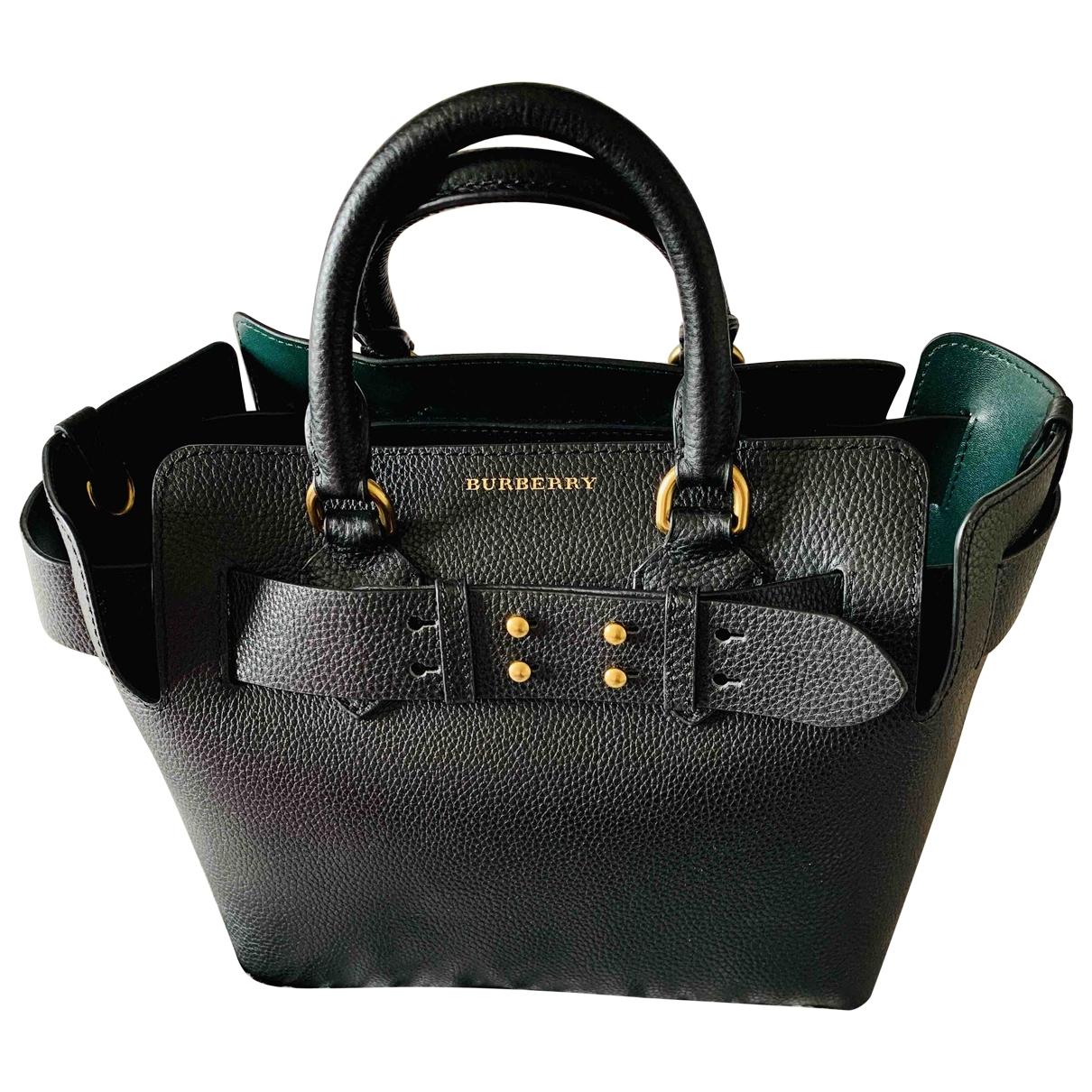 Burberry - Sac a main The Belt pour femme en cuir - noir