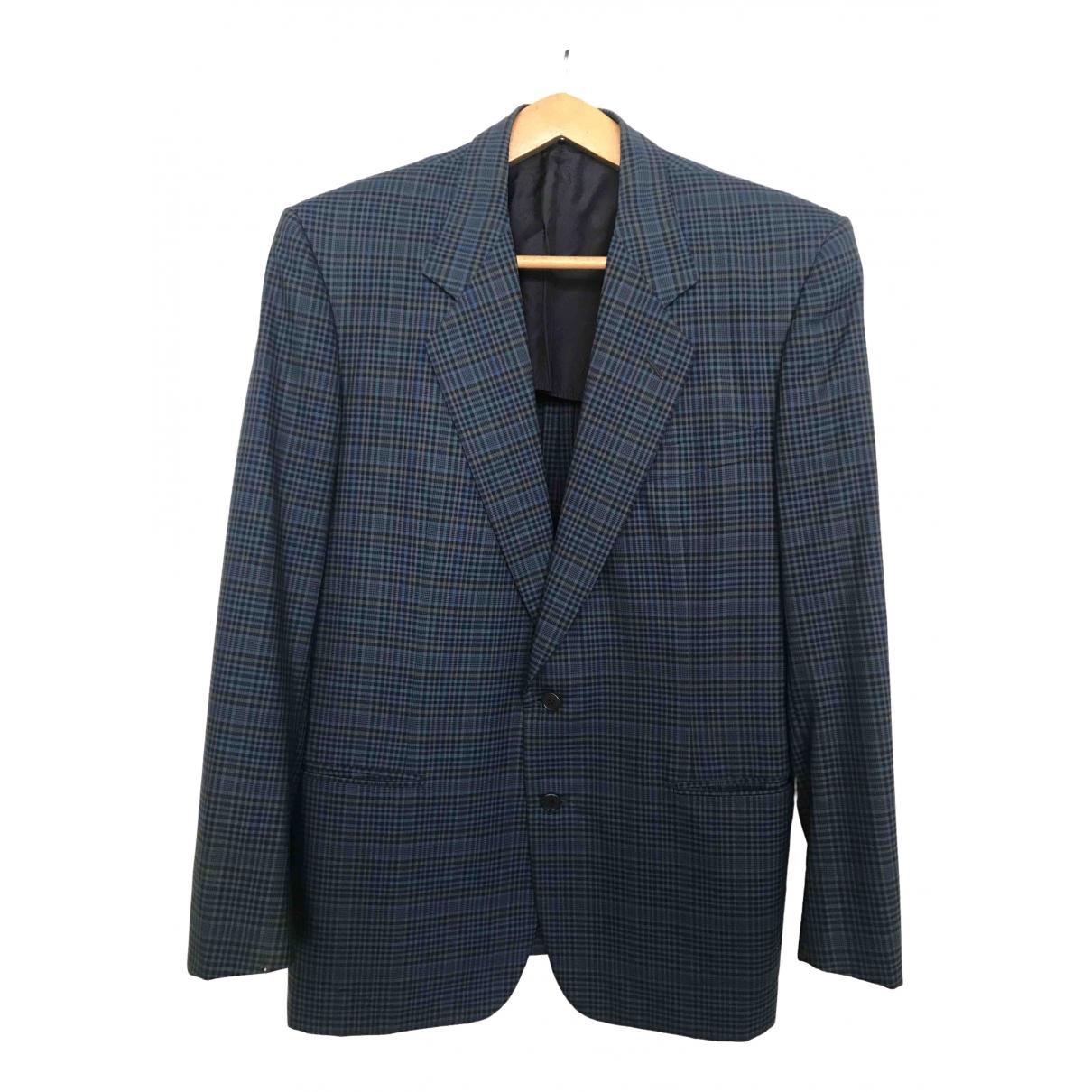 Yves Saint Laurent \N Blue Wool jacket  for Men 52 IT