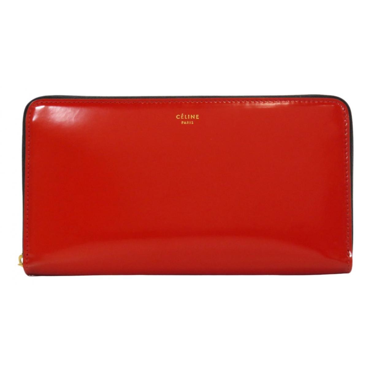 Celine \N Portemonnaie in  Rot Lackleder