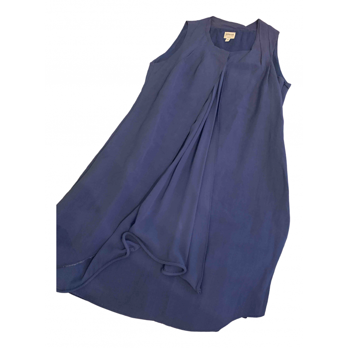Armani Collezioni \N Blue Linen dress for Women 40 IT