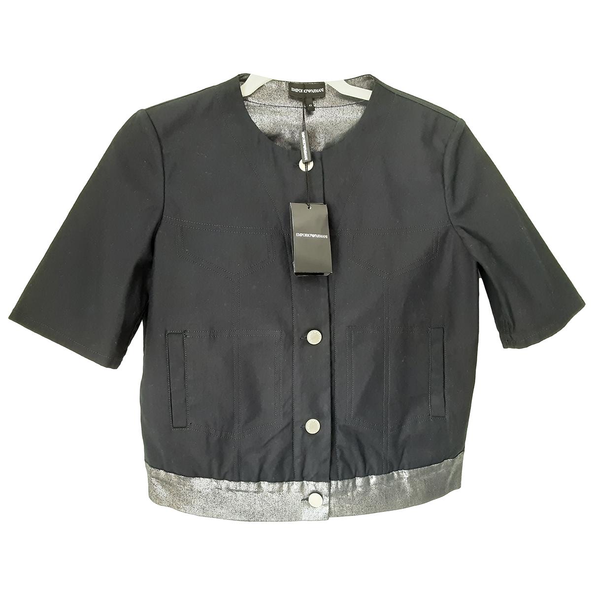 Emporio Armani \N Navy Cotton jacket for Women 42 IT