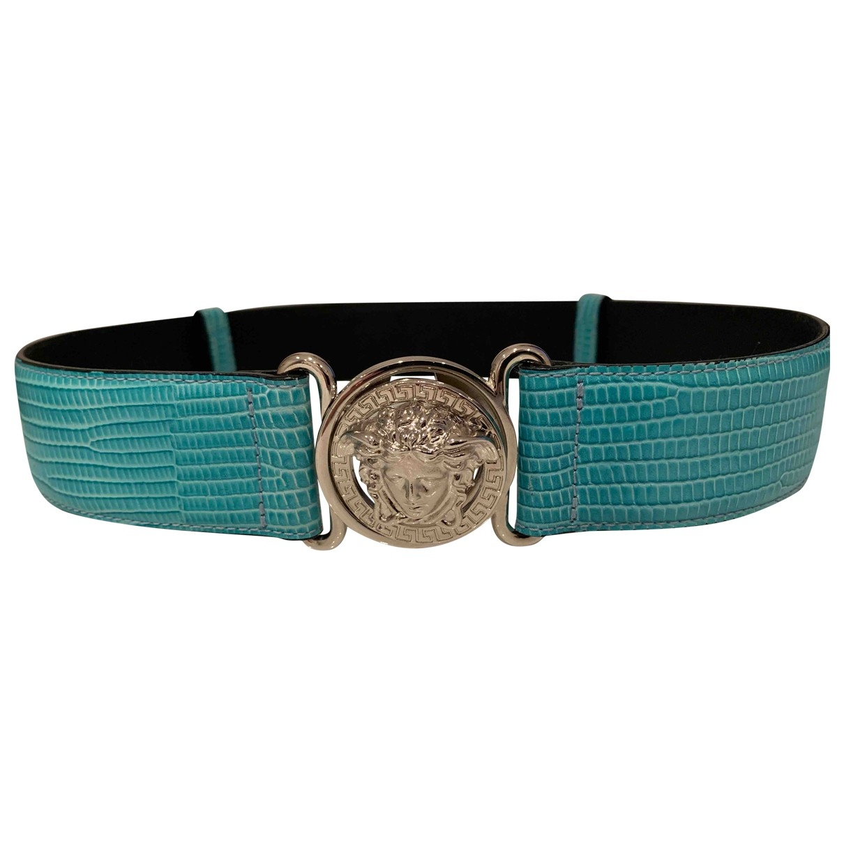 Versace \N Turquoise Leather belt for Women S International