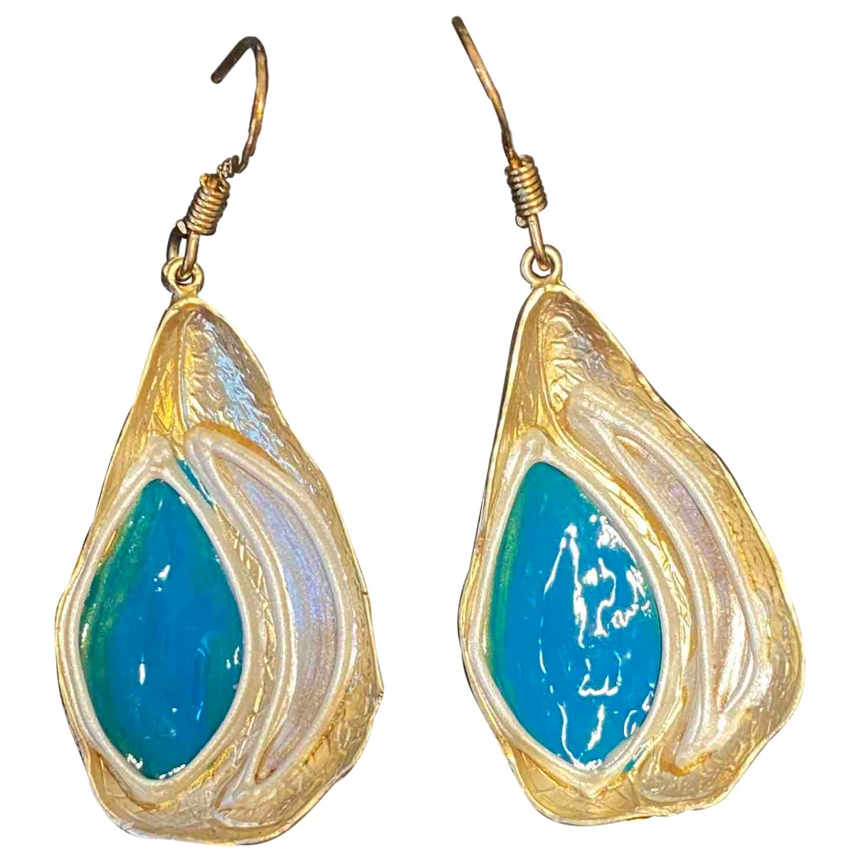 Non Signé / Unsigned Motifs Ethniques Gold gold and steel Earrings for Women \N