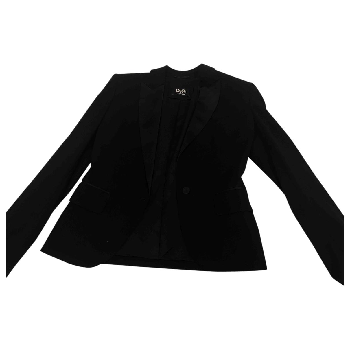 D&g N Black Wool jacket for Women 40 IT