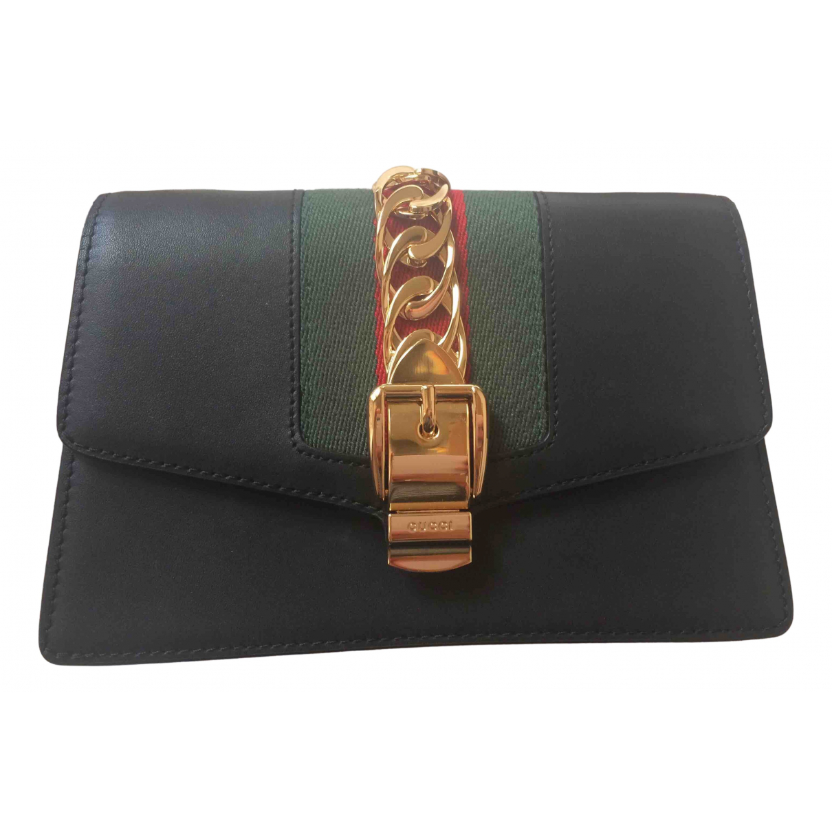 Gucci Sylvie Black Leather handbag for Women \N