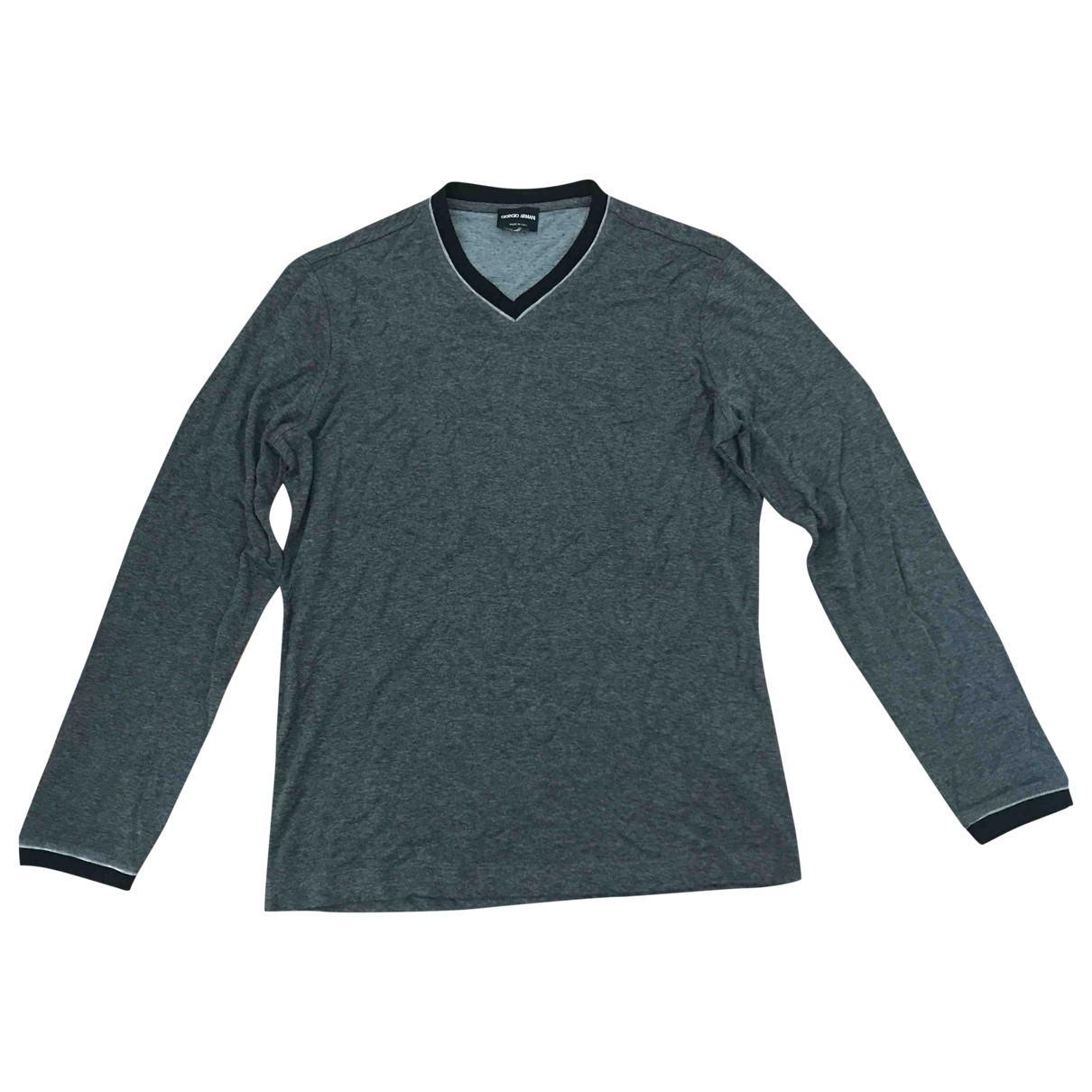 Giorgio Armani - Pulls.Gilets.Sweats   pour homme en coton - gris