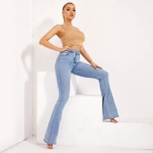 BLUES High Waist Flare Leg Jeans
