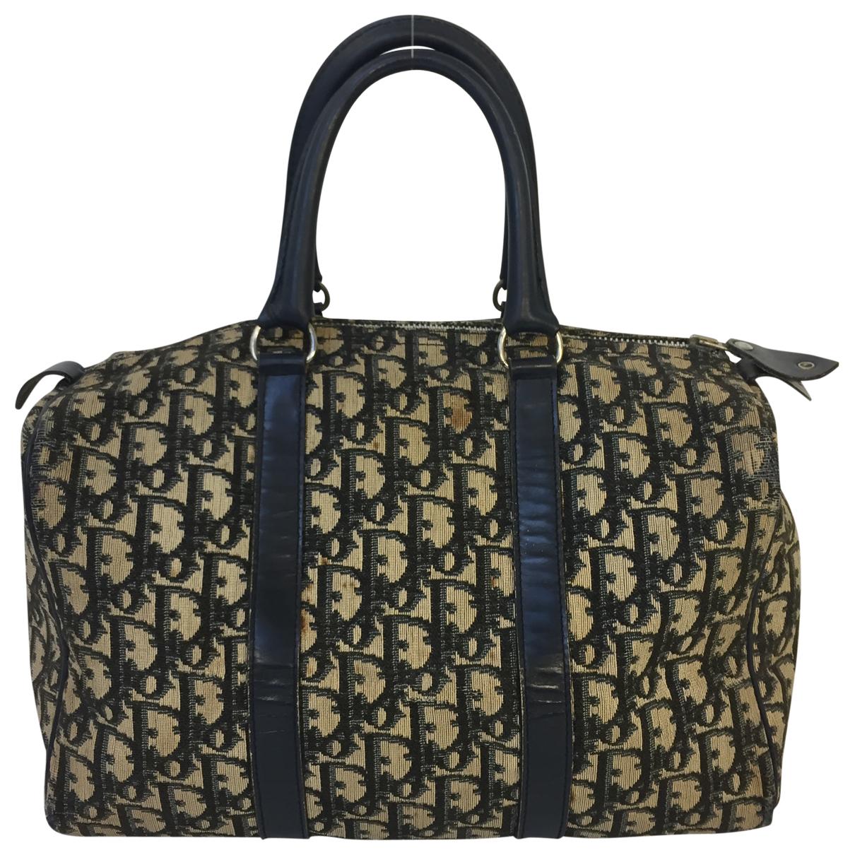 Dior Bowling Handtasche in  Beige Leinen