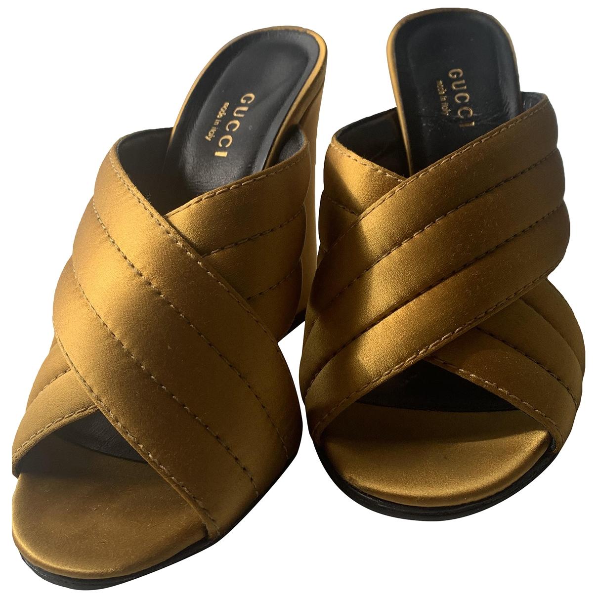 Gucci \N Gold Cloth Sandals for Women 36.5 EU