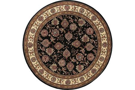A117D3240240ST 8' Round Rug with Oriental Pattern and PolypropyleneFiber