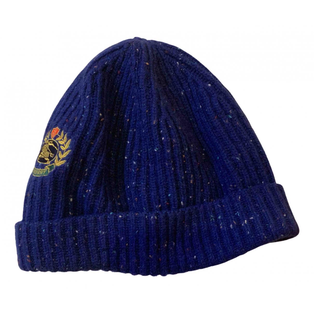 Burberry - Chapeau & Bonnets   pour homme en cachemire - marine