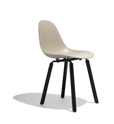 TA Collection TO-1511C-1502B Side Chair/Er Base Black Powder Coated/Cream