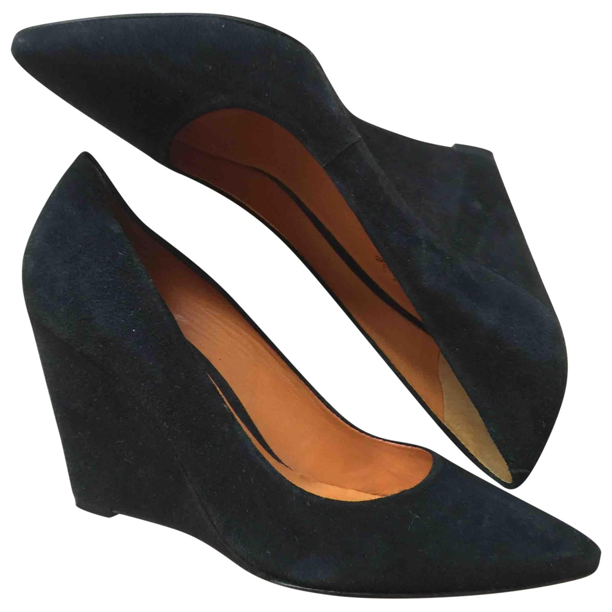 Non Signé / Unsigned \N Black Suede Heels for Women 7.5 US
