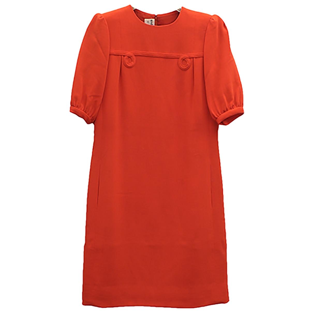 - Robe   pour femme en coton - elasthane - orange