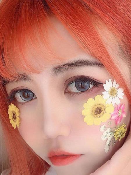 Milanoo Sweet Lolita Wigs Oragnge Red Short Heat Resistant Fiber Lolita Hair Wig