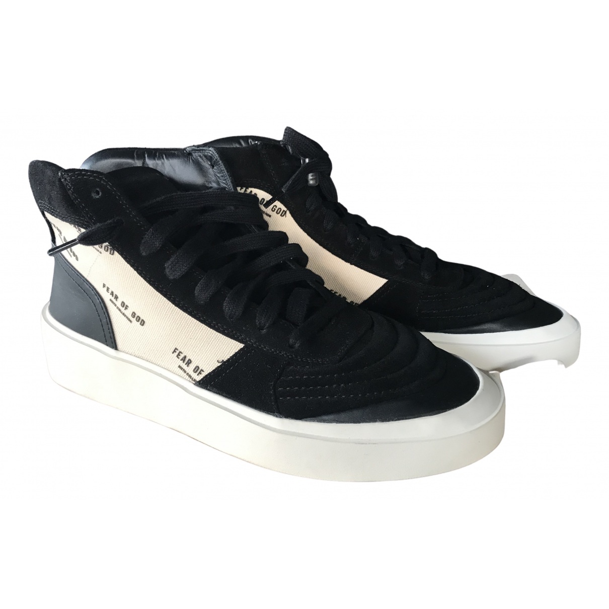 Fear Of God \N Black Suede Trainers for Men 39 EU