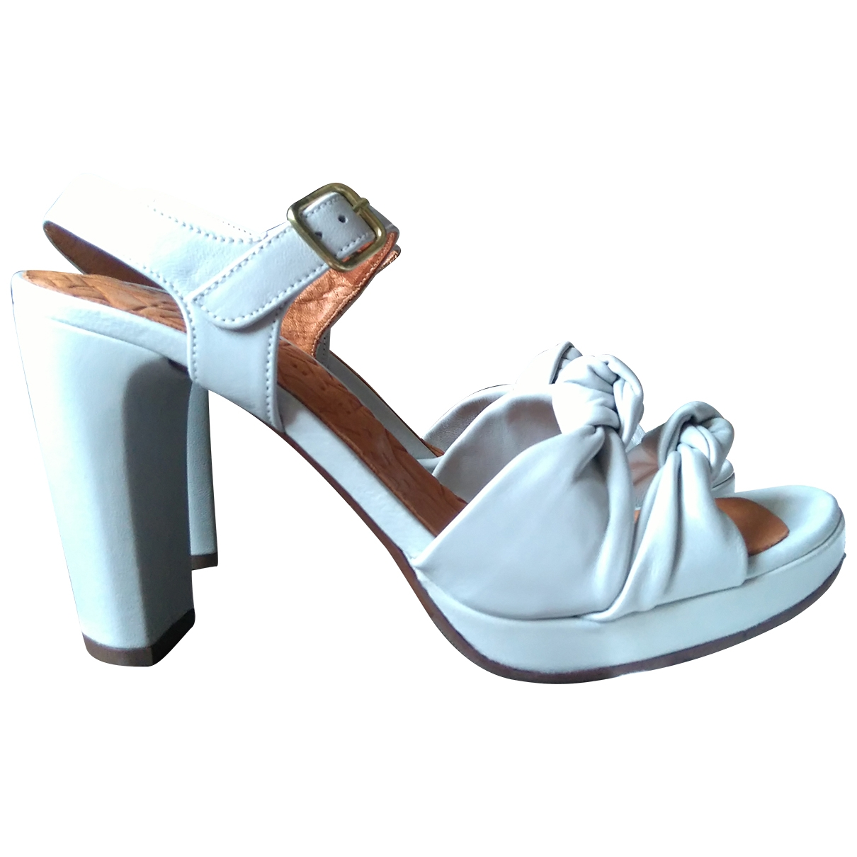 Chie Mihara \N White Leather Sandals for Women 40 EU