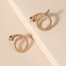 Snake Shaped Stud Earrings