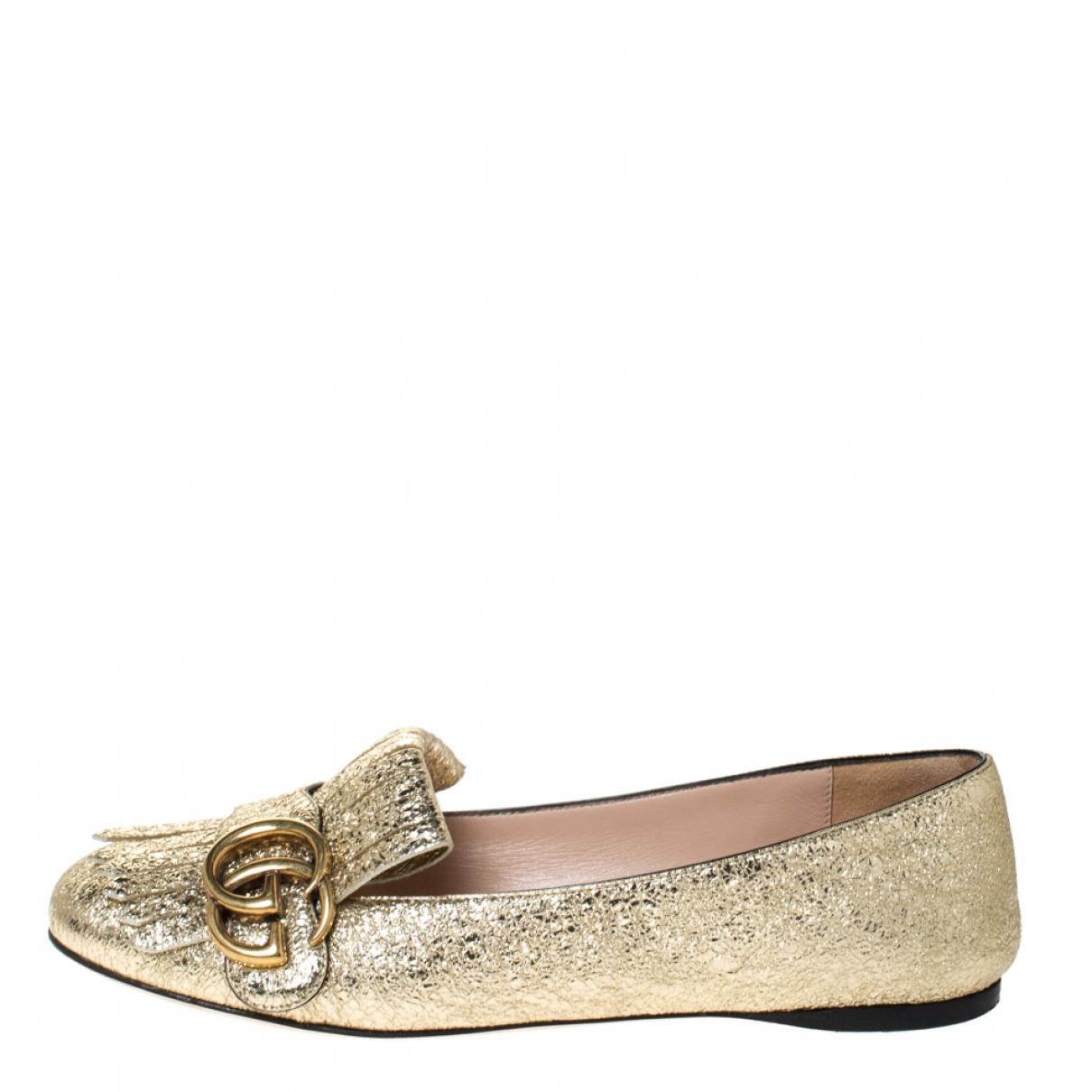 Gucci \N Espadrilles in  Gold Leder