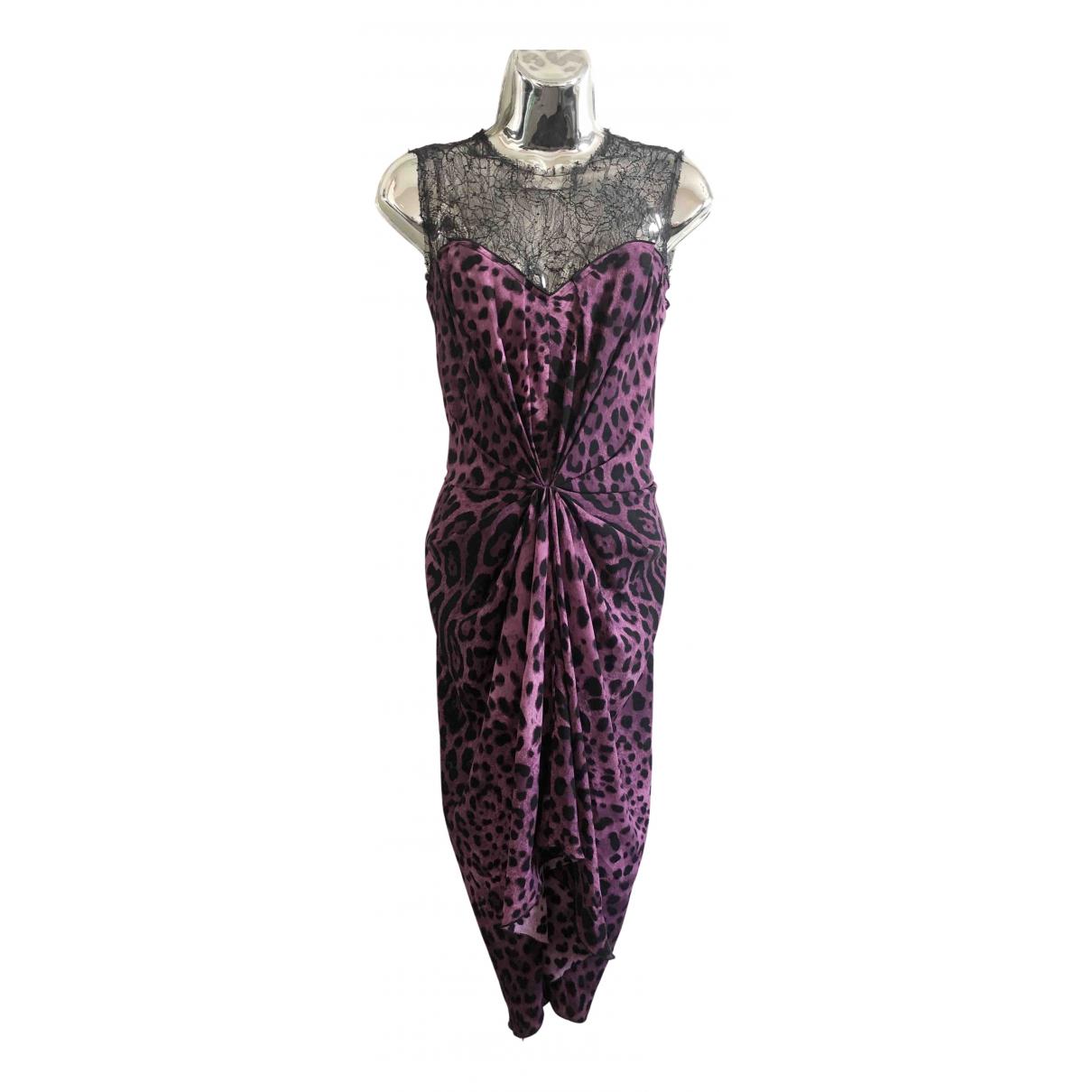 Dolce & Gabbana N Purple Silk dress for Women 42 IT