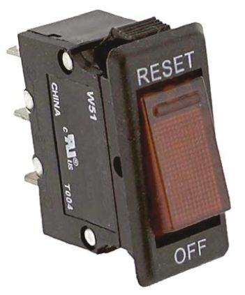 TE Connectivity W51 Single Pole Thermal Magnetic Circuit Breaker - 250V ac Voltage Rating, 10A Current Rating