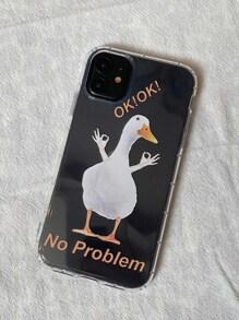 1pc Cute Duck Clear iPhone Case