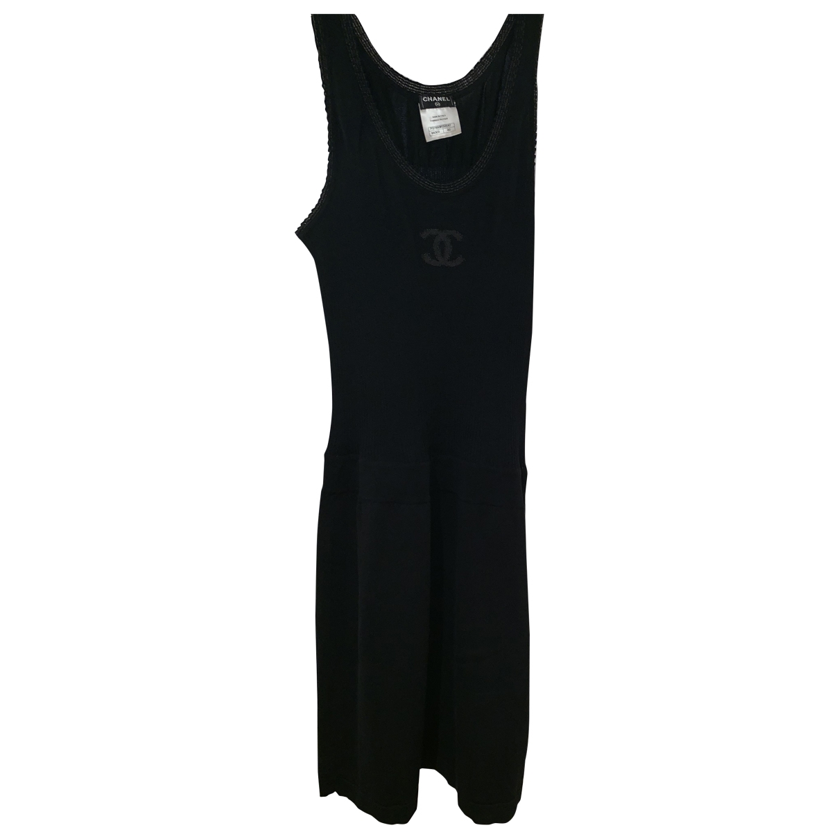 Chanel \N Black Cotton - elasthane dress for Women 42 FR
