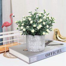 Kuenstlicher Blumentopf