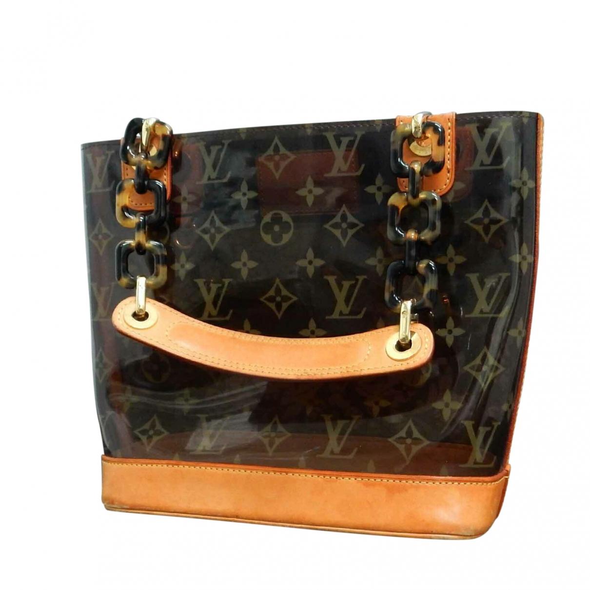 Louis Vuitton Ambre  Handtasche in  Braun Leinen