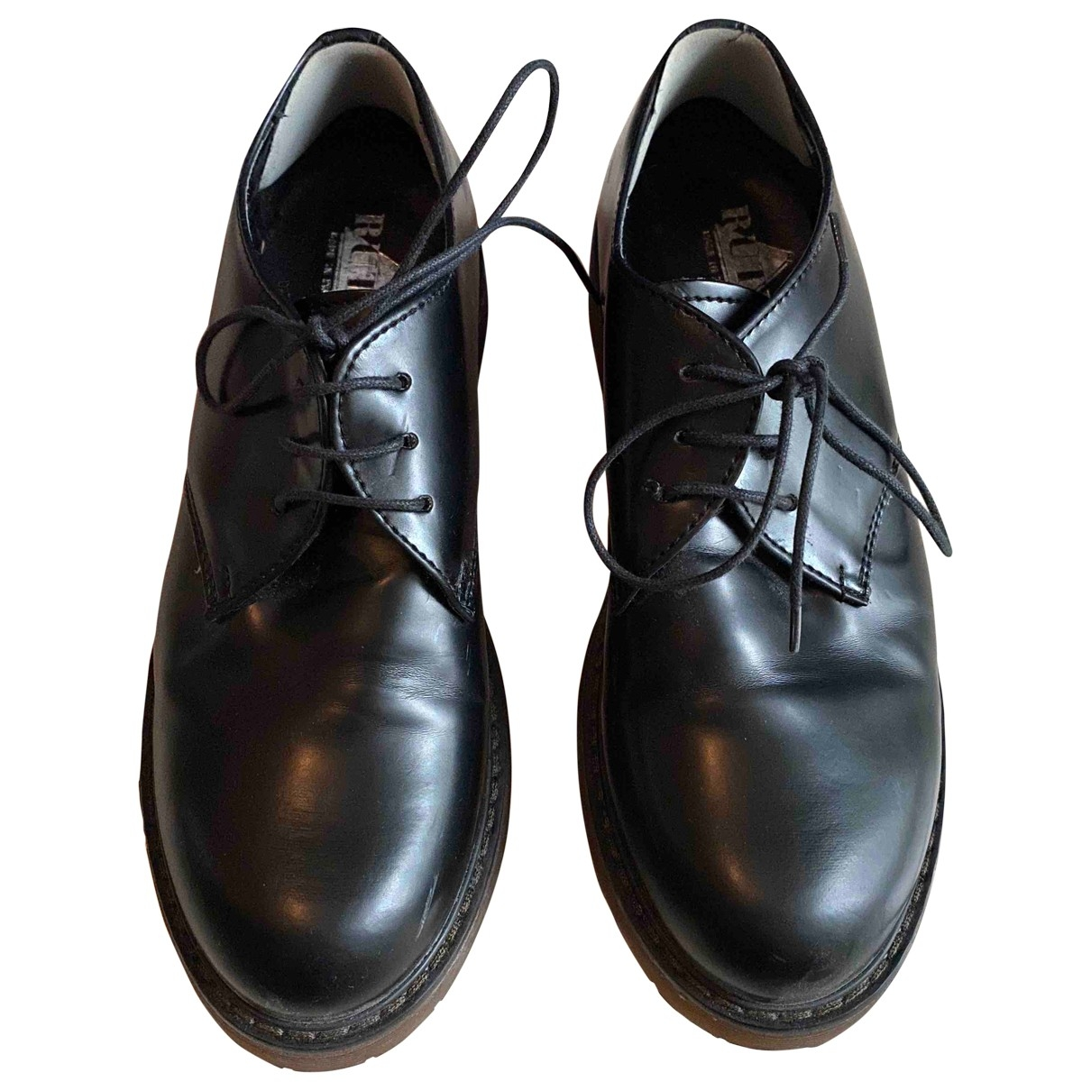 Non Signé / Unsigned \N Black Leather Lace ups for Women 38 EU