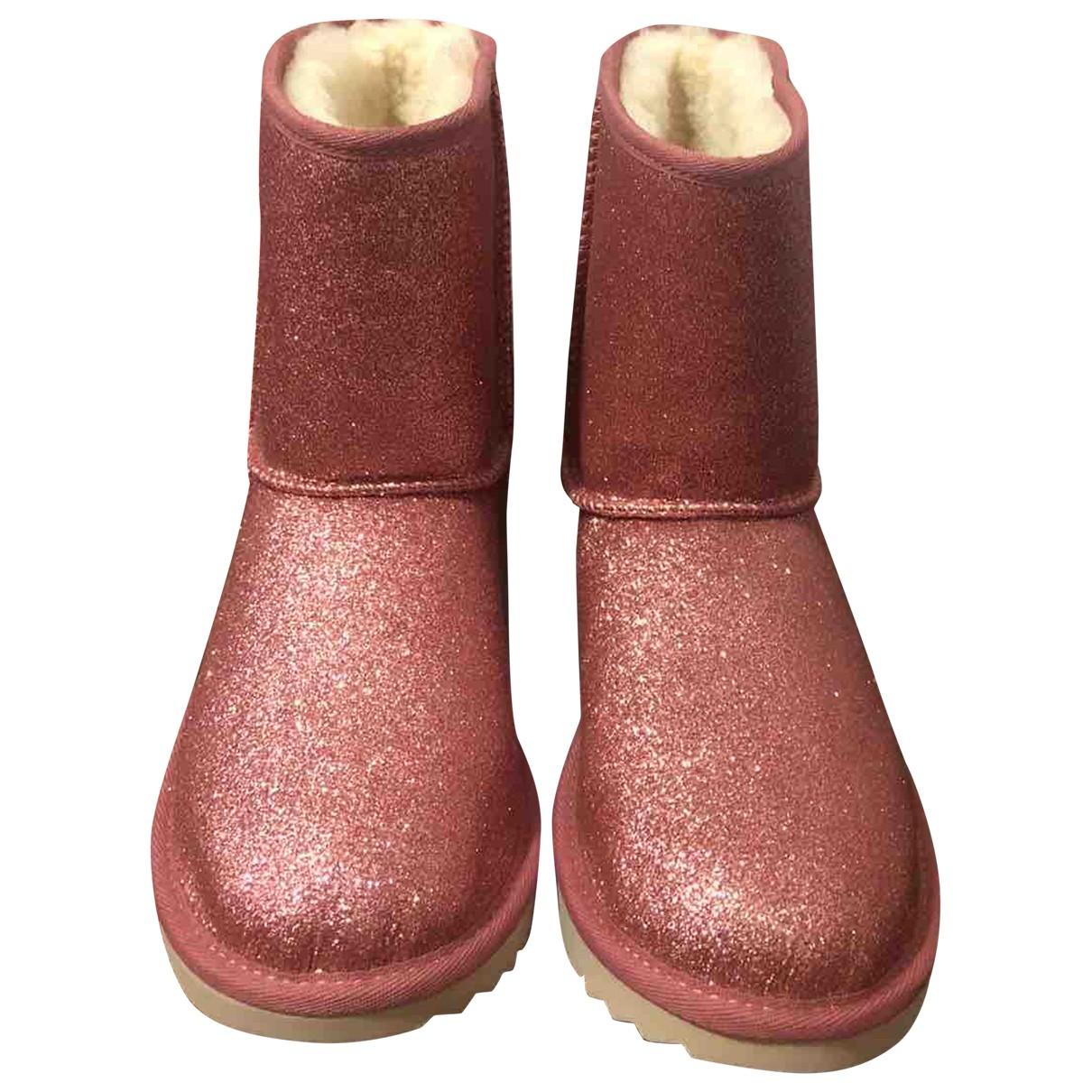 Ugg - Bottes   pour femme en a paillettes - rose