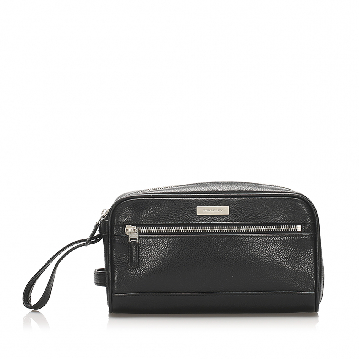 Burberry \N Clutch in  Schwarz Leder